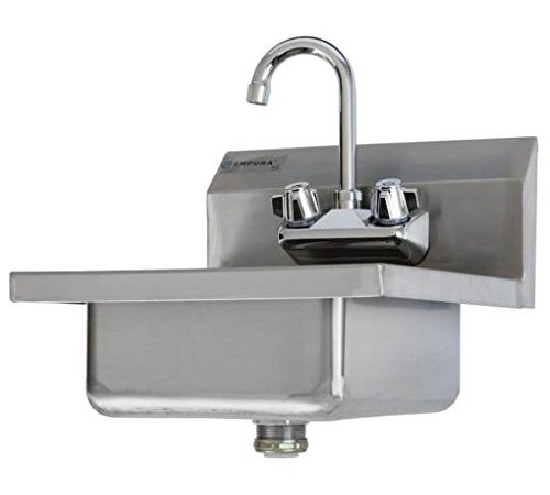 Commercial Stainless Steel Wall Mount Hand Washing Sink W