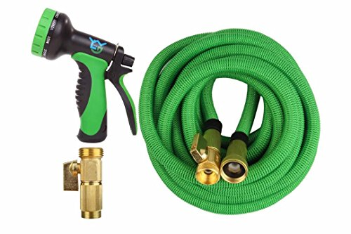 50ft expanding hoses garden water hose 10 function for Best flexible garden hose