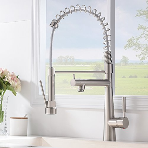 Brushed Nickel Kitchen Sink Vapsint best modern high arch commercial lead free stainless steel vapsint best modern high arch commercial lead free stainless steel brushed nickel kitchen faucetsingle handle kitchen sink faucetwith two outlets workwithnaturefo